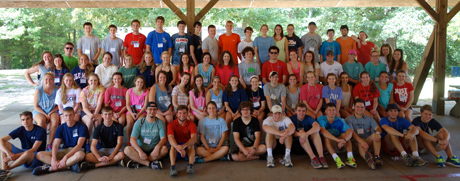 The 2014 Incoming Student Retreat at Camp Hopewell